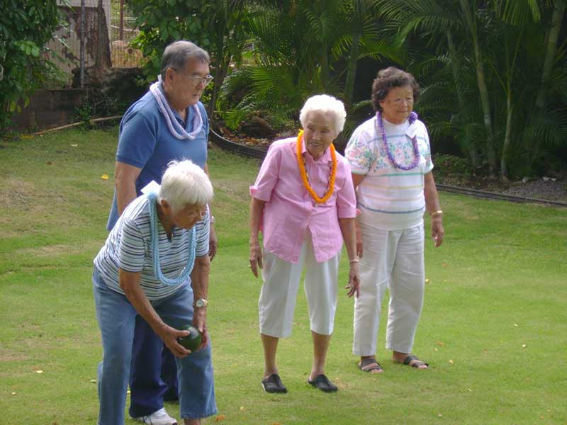 An image of residents enjoying time outside.
