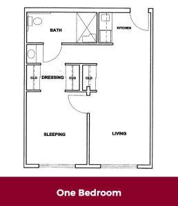 One Bedroom Floor plan at Roselani Place Senior Living Maui